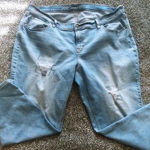 Boyfriend Rip and Repair jeans sz 18